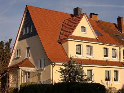 Framke Dachdecker: Dachkonstruktion für eine Doppelhaushälfte