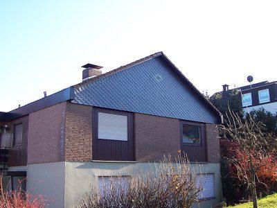 Framke Dachdecker: Fassade, Fischschuppendeckung