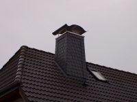 Framke Dachdecker: Schornstein, Schablonendeckung