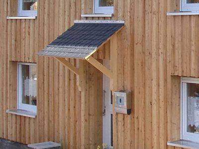 Framke Dachdecker: Vordach, Ihr geschützter Hauseingang